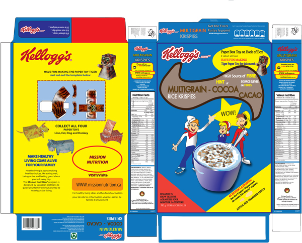 Photoshop betty patton for Design your own cereal box template